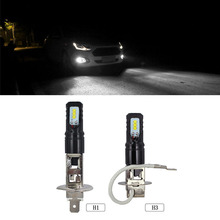 цена на H1 Led Bulb Car Light Replacement Bulbs H3 Fog Light White 80W 6500K 12V 24V Driving Fog Lamps Front Fog Lights for Cars