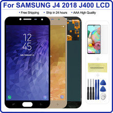 Digitalizador de pantalla táctil LCD para Samsung Galaxy J4 2018 J400 J400F J400H J400M J400G/DS, ajuste de brillo