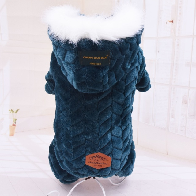 Winter Pet Dog Clothes Warm Dog Coat Jumpsuit Thicken Pet Clothing For  French Bulldog Teddy Dogs Costume Puppy Jackets 3