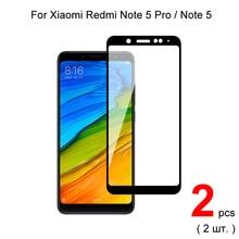 Закаленное стекло с полным покрытием для Xiaomi Redmi Note 5 Pro / Redmi Note 5, 2 шт., защита экрана, защитное стекло