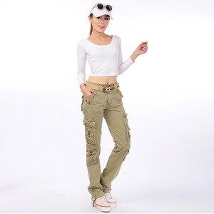 Image 4 - Pantalon de Camouflage militaire pour femmes, Pantalon Cargo de pêche à stretch, Safari, Pantalon de voyage pour dames, Pantalon droit multi poches