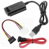 SATA/PATA/IDE lecteur à USB 2.0 adaptateur convertisseur câble pour 2.5/3.5 disque dur haute vitesse pratique Durable