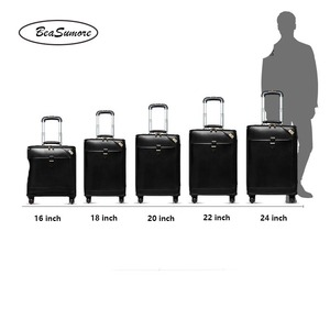 Image 4 - BeaSumore Men Genuine Leather Rolling Luggage Spinner Retro Cowhide Wheel Suitcases 16 inch Cabin Business Trolley