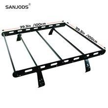 SANJODS Car Roof Rack Side Rails Cargo Carrier Top universal Sport Utility 4-door
