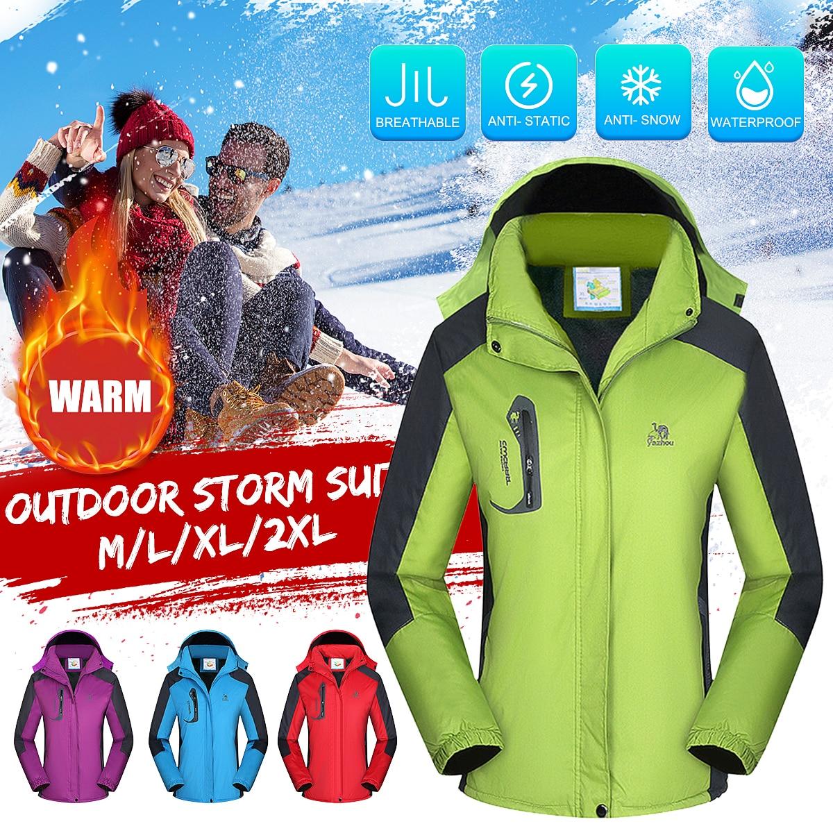 Ski Jacket Women Fleece Lined Waterproof Snow Coat Outdoor Hiking Snowboard Windproof Snowboard Fleece Jacket Winter Snow Male