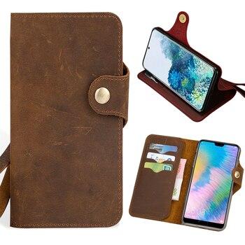 Leather Flip Phone Case For Xiaomi Redmi Note 9S 9 8 8T 8A 7 7A 6 6A 5 Plus 5A 10X K30 Poco F1 X2 X3 F2 Pro Horse Wallet Bag