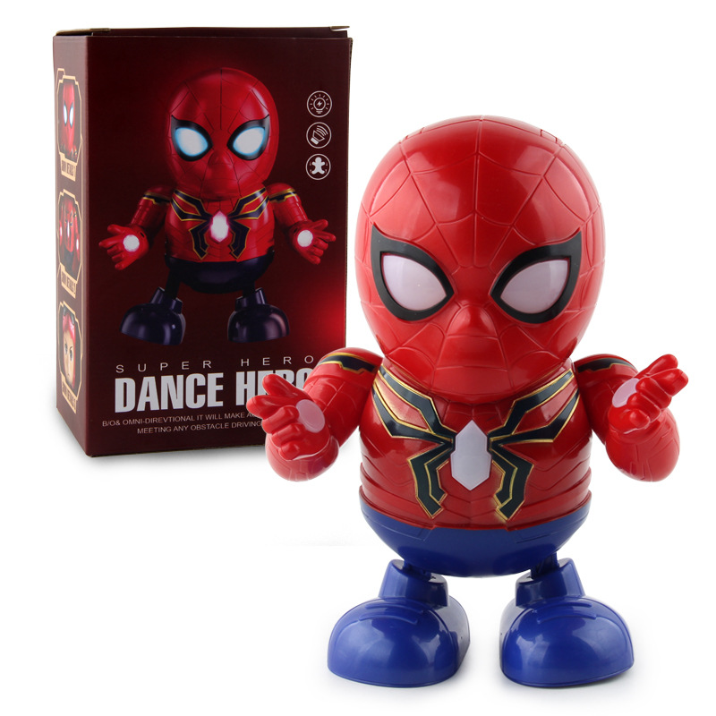 Douyin Celebrity Style Dancing Mask Spider-Man Robot Music Light Electric Dancing Robot Electric Toys