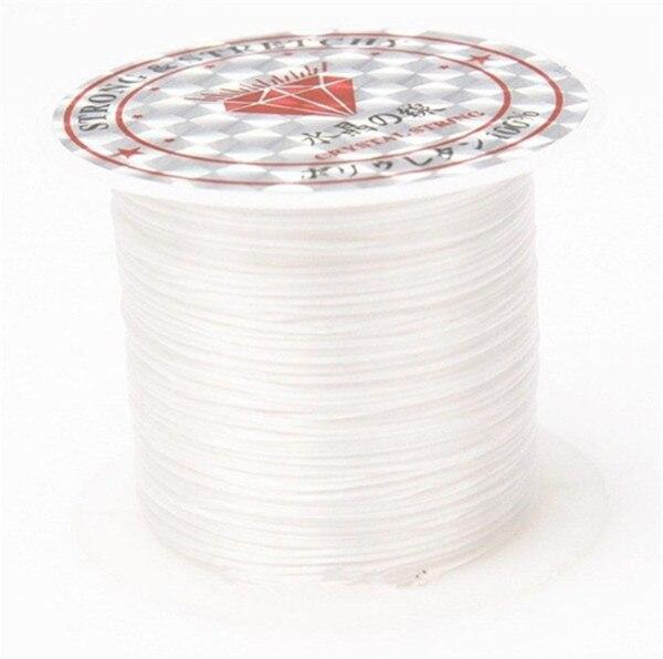 393 дюйма/рулон, крепкий эластичный шнур для бисероплетения с кристаллами, 1 мм, для браслетов, стрейчевая нить, ожерелье, сделай сам, для изготовления ювелирных изделий, шнуры, линия - Цвет: Color 8