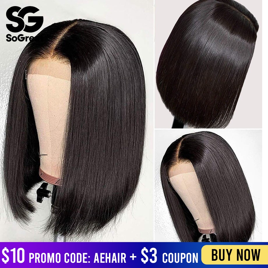 4x4 Lace Closure Front Human Hair Wigs Straight Short BOB Long Brazilian Wet And Wavy Remy Hair Wig Preplucked For Black Women