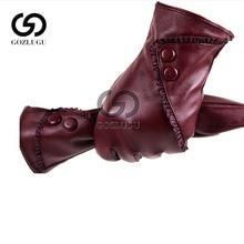 Fashion Women christmas gloves warm Lady Soft Leather Gloves Winter Warm Mitten Xmas Gift