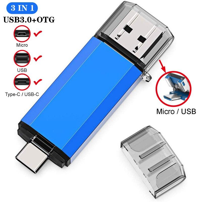 3 в 1 USB флеш накопитель карта памяти 128 Гб 64 ГБ 32 ГБ 16 ГБ 8 ГБ флеш накопитель для телефона/планшета флеш накопитель usb флешка usb OTG|USB флэш-накопители|   | АлиЭкспресс
