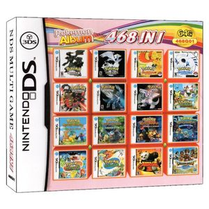 468 In 1 Pokemon Album Video Game Card Cartridge Console Card Compilation for Nintendo DS 3DS 2DS NDS NDSL NDSI