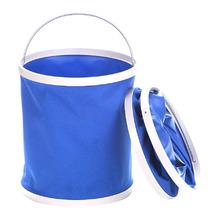Portable Folding Bucket Outdoor Camping Fishing Bucket Car Storage Container Car Wash Mop Bucket Cleaning Tools tanie tanio Rolling typu pokrywy ROUND Przechowywania wiadro Oxford tkaniny