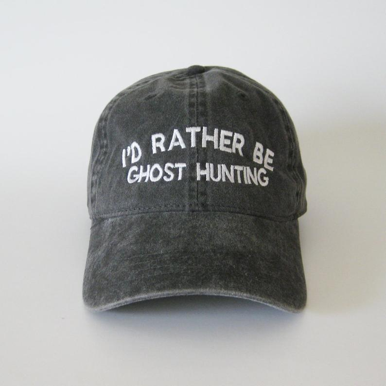 Dad Hat Printed-Caps Ghost Trendy Halloween-Cap I'd