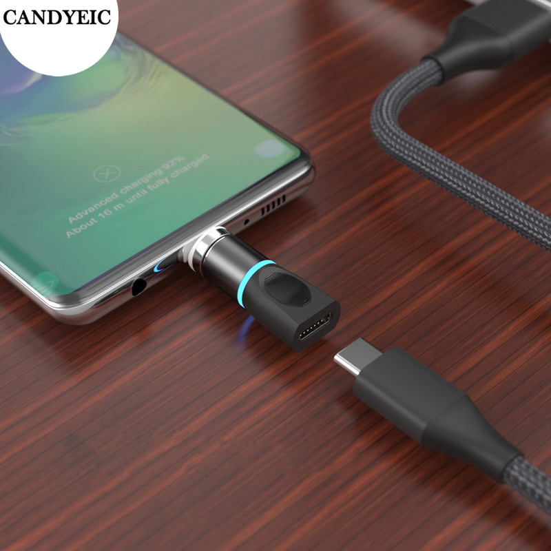 CANDYEIC Type-c Magnetic Adapter For Huawei P40Pro P40 Honor 30s 9A OPPO Find X2 Realme X50 Magnetic Charger Data Transmission