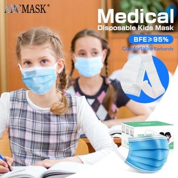 1/100pcs Kids Children's Mask Disposable Face Mask 3ply Ear Loop Face Masks Cover Protect Unisex Dustproof Mask For Children
