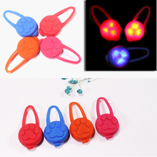 Pet Dog Night LED Flashlight Cat Collar Glowing Pendant Safety Leads Necklace Luminous Bright Decoration Collars For