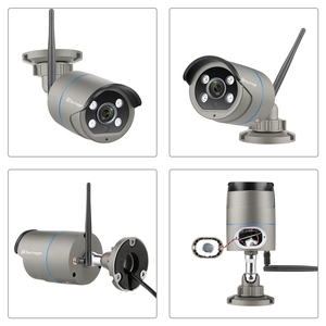 Image 2 - Techage 4CH 1080P Drahtlose Kamera NVR System 2MP Wifi 4 Array LED 2 Weg Audio Sound Video Im Freien sicherheit Überwachung CCTV Kit