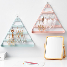 Plastic Earrings Rings Holder Jewelry Display Stand Bracelet Organizer Wall Mount Earring Necklace Hanger
