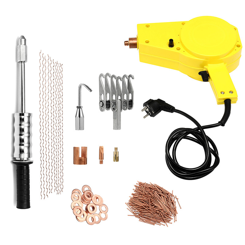 Dhl Spot Welder Repair Dent Repair Puller Kit Auto Car Body Recess Repair Tools Hunter Stud Welder Spot Welder Welding Machine