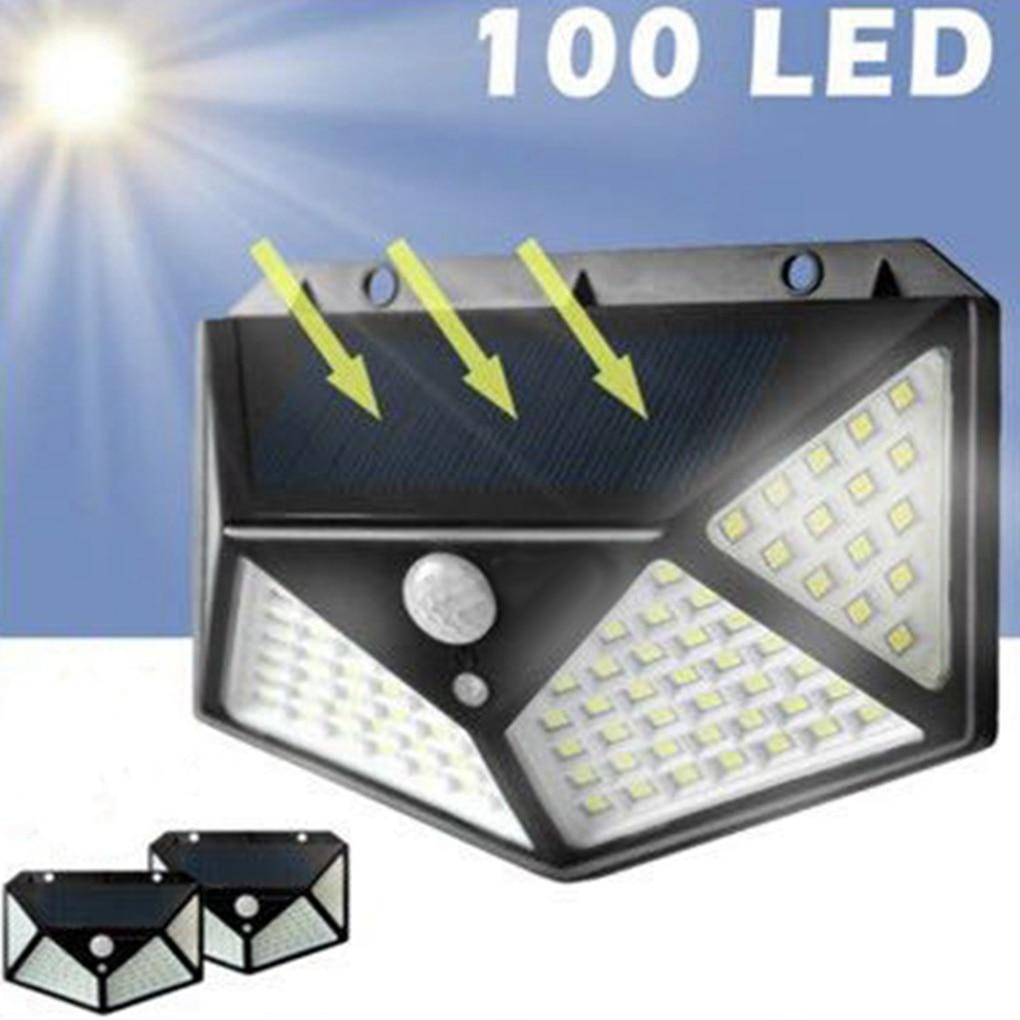 100 LED Solar Light Outdoor Solar Lamp Powered Sunlight Waterproof Wall Lights Motion Sensor Street Light For Garden Decoration