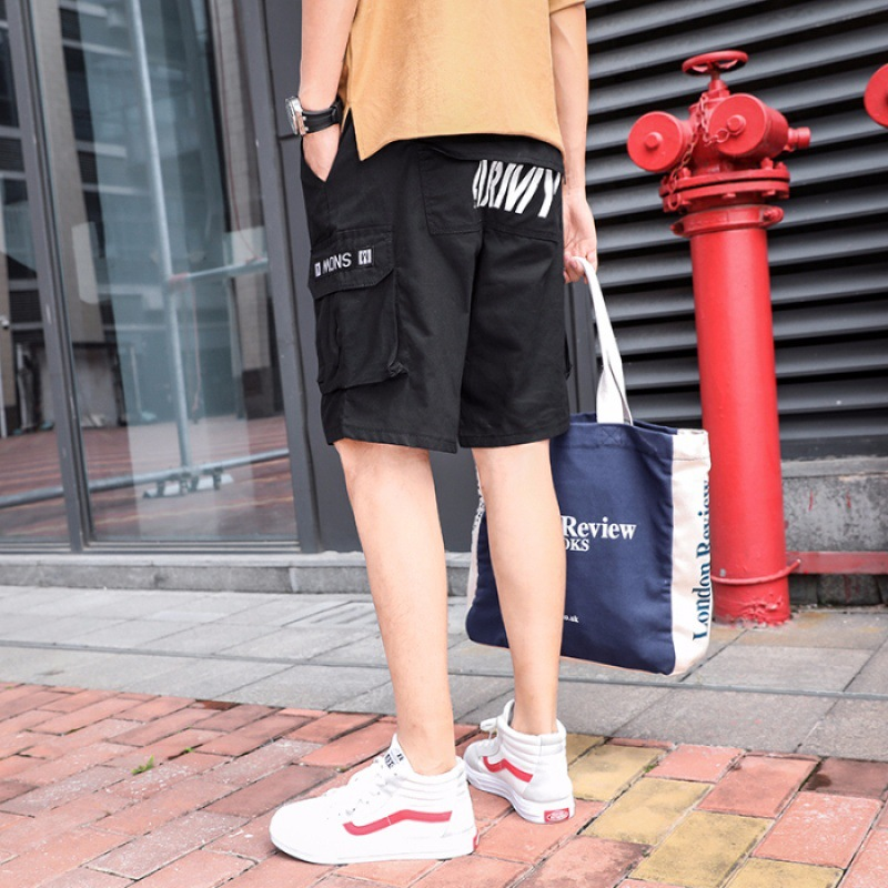 Summer Trend Bermuda Shorts Workwear Shorts Men Summer Teenager Loose-Fit Shorts Korean-style Sports Pants