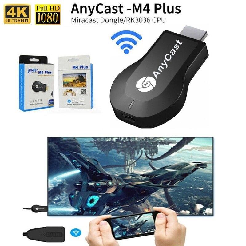 Устройство для показа экрана Anycast m4 plus, адаптер для совместного подключения к экрану с ключом доступа, HDMI, 1080P, Wi-Fi, Android Chromecast 2