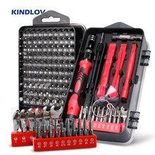 KINDLOV – jeu de tournevis 138 en 1, Kit d'embouts de vis Phillips Torx magnétiques avec tournevis électriques, clé de réparation téléphone outils PC