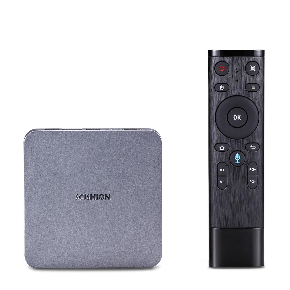 SCISHION AI ONE Android TV Box android 8.1 4K 2G/16G WiFi BT4.0 lecteur multimédia écran d'affichage commande vocale PK Z28 X96mini TV box