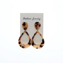 Boho Leopard Print Long Drop Earrings for Women Dangle Statement Pendant Acrylic Earring 2020 Fashion Luxury Acetate Jewelry
