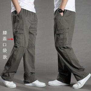 Image 3 - Harem tactica calças dos homens marca 2018 verão flacidez calças de algodão calças masculinas plus size calça esportiva dos corredores pés pantsL 6XL