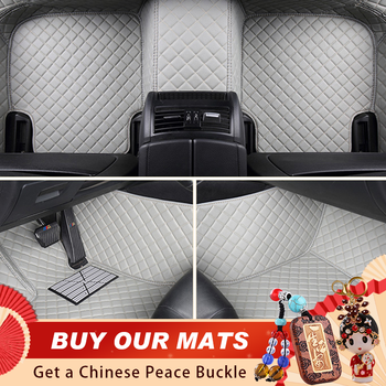 ACROSS Custom Car Floor Mats for Toyota Rav4 Prius CHR C-HR Yalis Floor Mats for Cars All Weather Black image