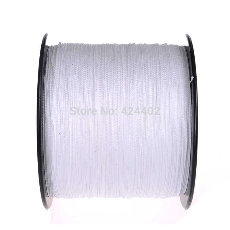 Marques nouveau super fort 1000M fils tressés 100% pe fibre ligne de pêche spectra blanc 4 brins 0.1mm-0.55mm lignes de pêche