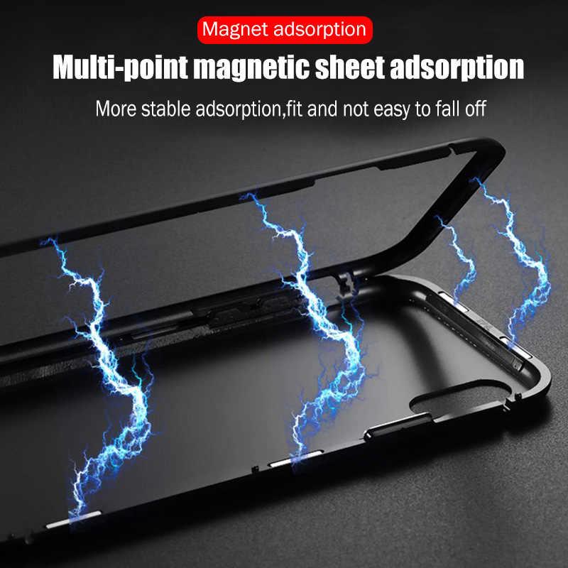 Magnetische Aantrekkingskracht Case Voor Iphone 11 X Xr Xs Max 6 6 S 7 8 Plus Shockproof Case Voor Iphone 11 Pro Max Gehard Glas Back Cover