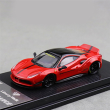 CM Model 1:64 LB Performance 488 GTB Gray Red Diecast Model Car
