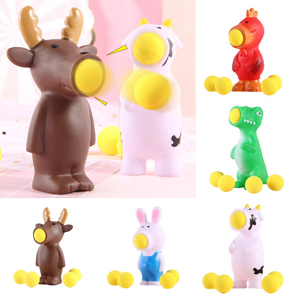 Creative Soft Rabbit Animal Pop Out Ball Anti-Stress Squeeze Kids Toy Gift Soft Sticky Stress Relief Funny Gift Toy