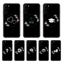 Dark Trick Series Soft Tpu Phone case For Huawei P 30 10 20 40 Lite Smart Z Pro 2019 black waterproof art cover silicone Etui(China)