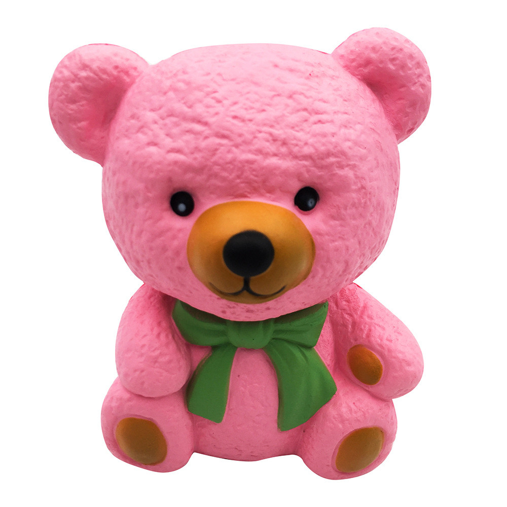 Pink Bear Squishy Slow Rising Cream Scented Valentine's Day Lovely Gift Toy Stress Reliever Toy For Children L107
