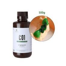 Resina castável dental de resione c01 500g para elegoo anycúbico resina 3d impressora lcd dlp sla resina 3d líquido fotopolímero