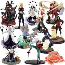 13 30cm Naruto Uzumaki Sasuke Uchiha Obito Gaara GK Senju Hashirama Momochi Zabuza GK Itachi With Crow PVC Figure Model Toy gift