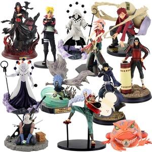 Image 1 - Figurine Naruto Uzumaki Sasuke Uchiha Obito Gaara GK Senju Hashirama Momochi Zabuza GK Itachi, modèle en PVC, 13 30cm, cadeau à offrir