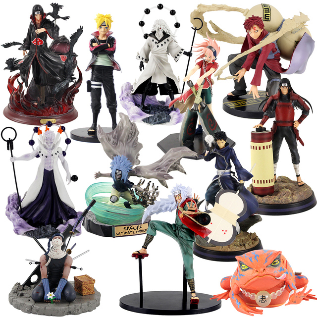 Figurine Naruto Uzumaki Sasuke Uchiha Obito Gaara GK Senju Hashirama Momochi Zabuza GK Itachi, modèle en PVC, 13 30cm, cadeau à offrir