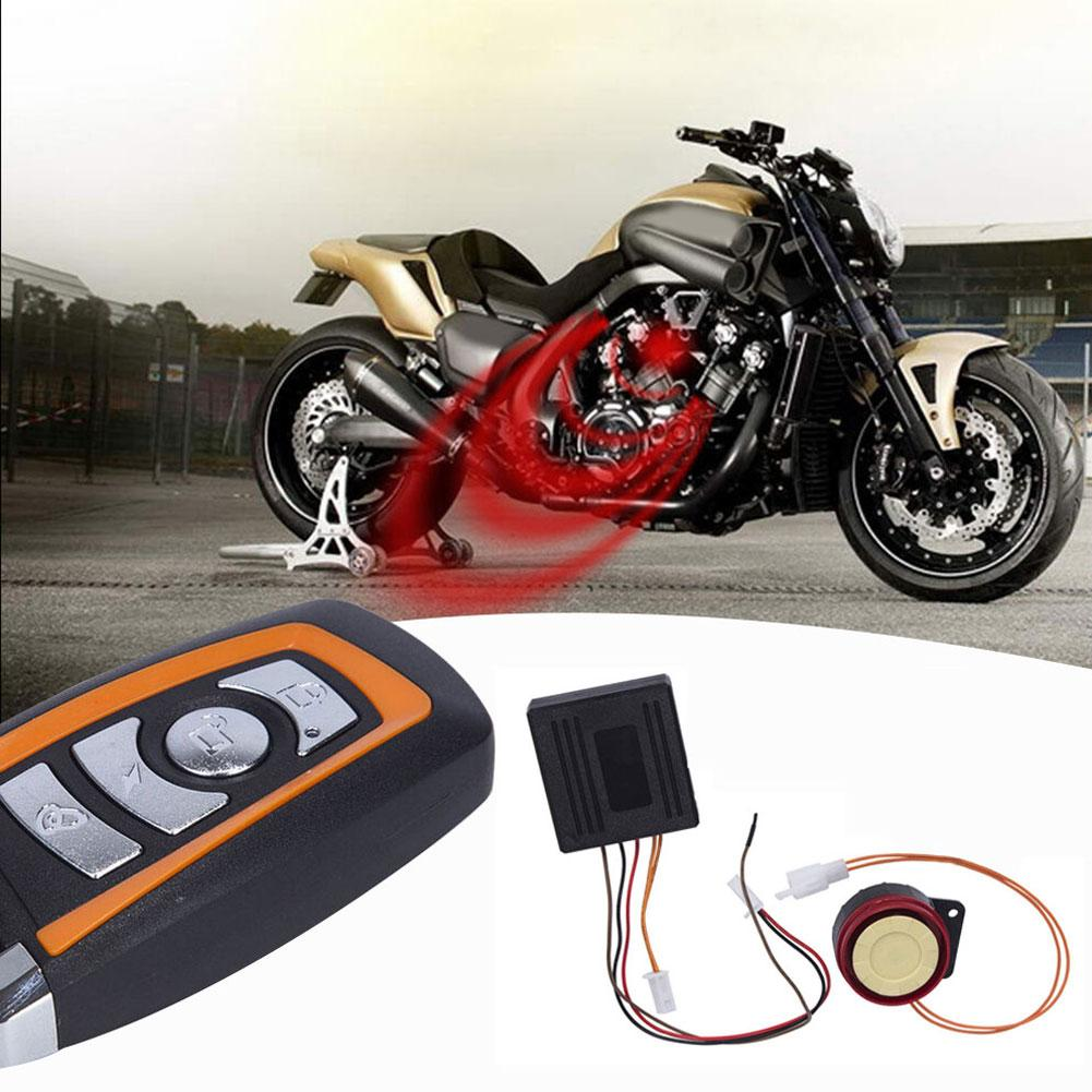 12V Car Motorcycle Electric Bike Remote Control Anti-theft Security Alarm System