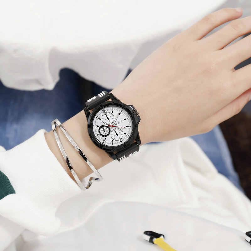 В полоску, силикагель, Южная Корея, Harajuku, ветер, корейский стиль, простые повседневные мужские и женские парные часы, для средних школьников, студентов, спортивные