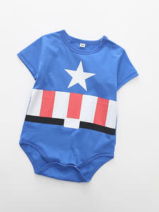 Summer Baby Rompers Outfits Jumpsuit Newborn Superman Baby-Boy-Girl Cotton Short-Sleeve
