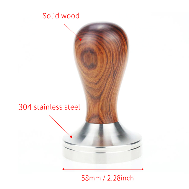 Details about  /HiBREW 51mm//58mm Tamper  Coffee powder handle 304 stainless steel and solid wood