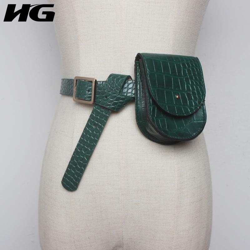 HG Korean Style Fashion Trendy Wild Cummerbunds Korea Fashion Classic Multi Purpose Simulation Leather Coin Pocket New XJ2342