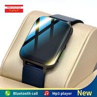 Ekg Smart Uhr Männer 1,78 zoll Full Touch Bildschirm Musik Wiedergabe Frauen Sport Fitness Tracker 2021 Neue Smartwatch Für Android IOS