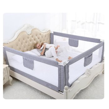 2M Baby Bed Fence for Child Safety used as Baby Gate from Falling Accidentally while Sleeping or Playing