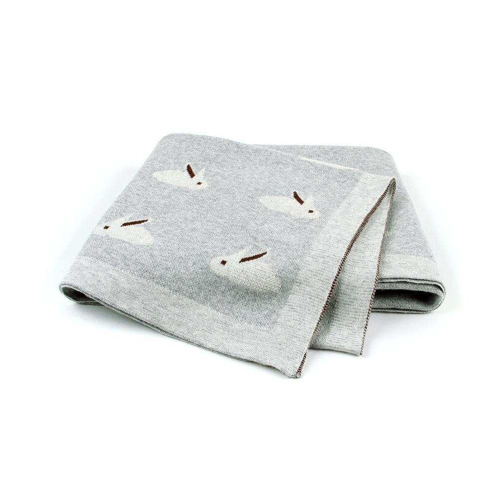 cobertores do bebe super macio da crianca sofa berco cama colchas coelho engracado malha recem nascido